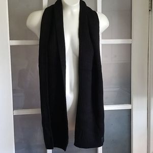 PINK Victoria's Secret winter black knit scarf